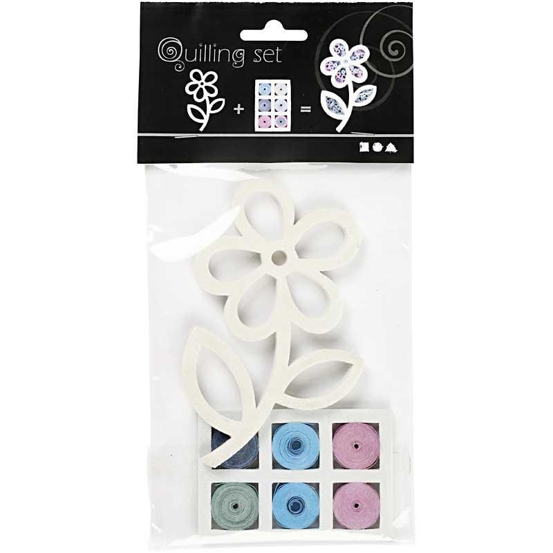 Set quilling,11,5x7cm,floare,bleu