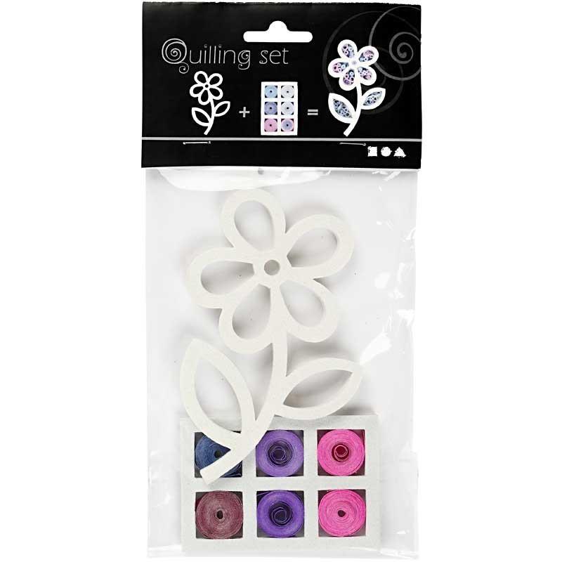 Set quilling,11,5x7cm,floare,rosu