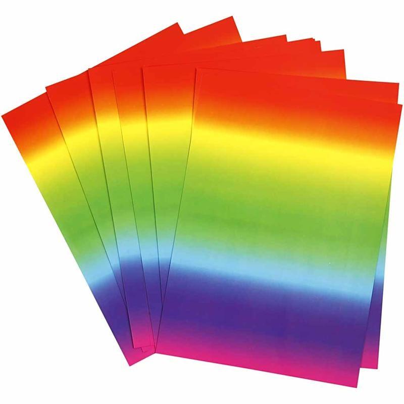 Carton A4,180g,10coli/set,model rainbow