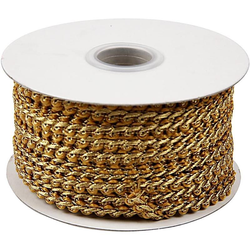 Snur impletit,0.5x2m,luciu metalic,auriu