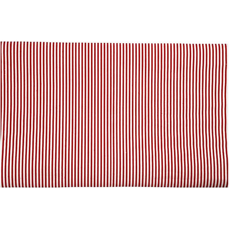 Hartie manuala 38x56,110g,rosu/alb/dungi