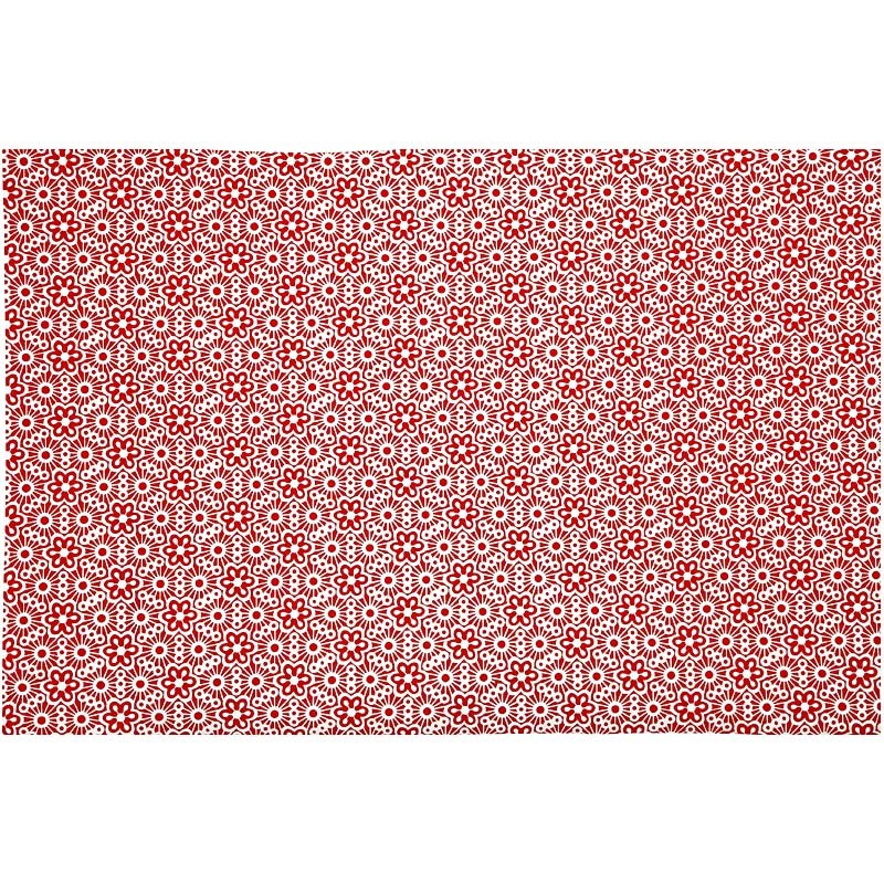 Hartie manuala 38x56,110g,rosu/alb/model