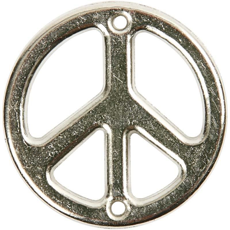 Pandantiv,peace,23mm,ag.antic,5buc