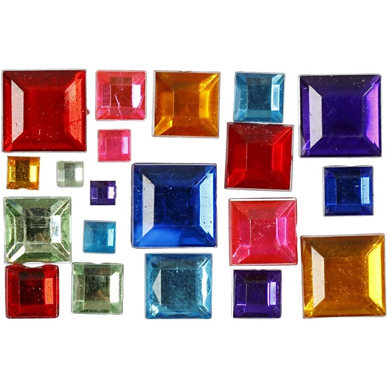 Pietre,4-10mm,patrate,div culori,15g/set