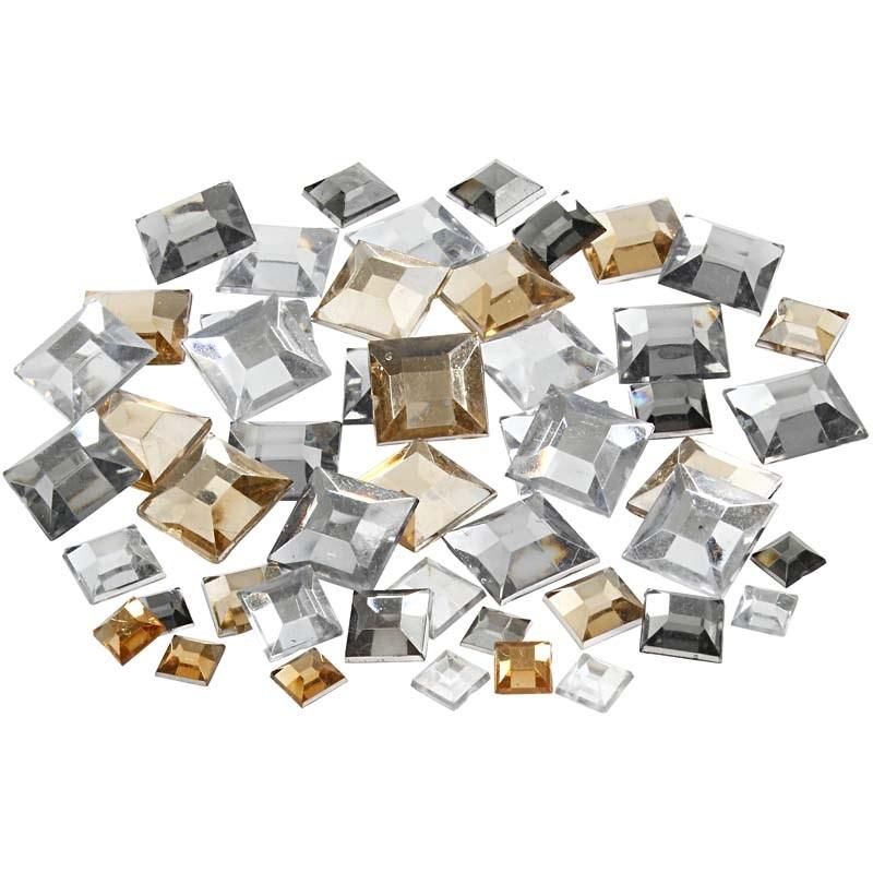 Pietre,6/9/12mm,patrate,argintiu,360 b/s