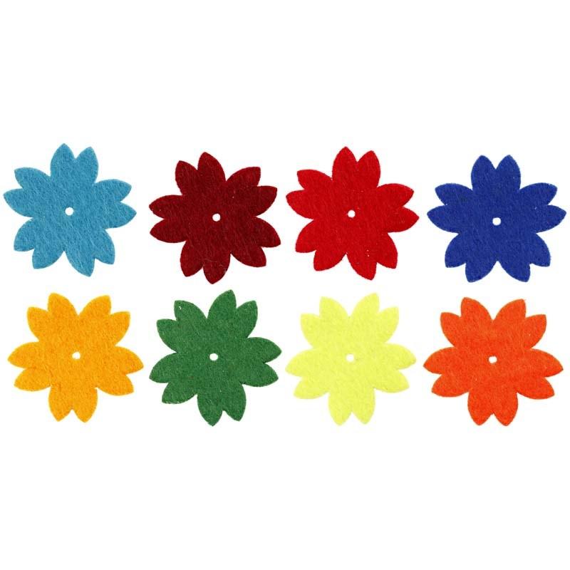 Flori autoadezive,fetru,35mm,24buc/set