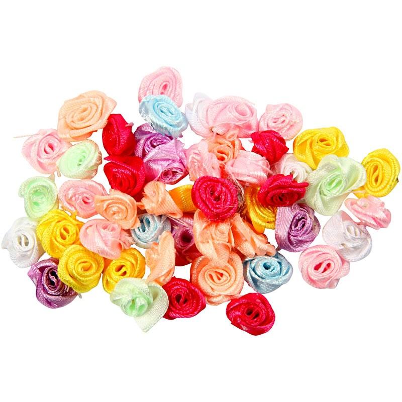 Trandafiri hand-made,satin,14-18mm,50b/s