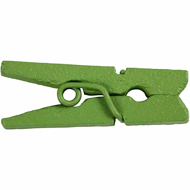 Carlige lemn pt decor,25mm,verde,36b/s