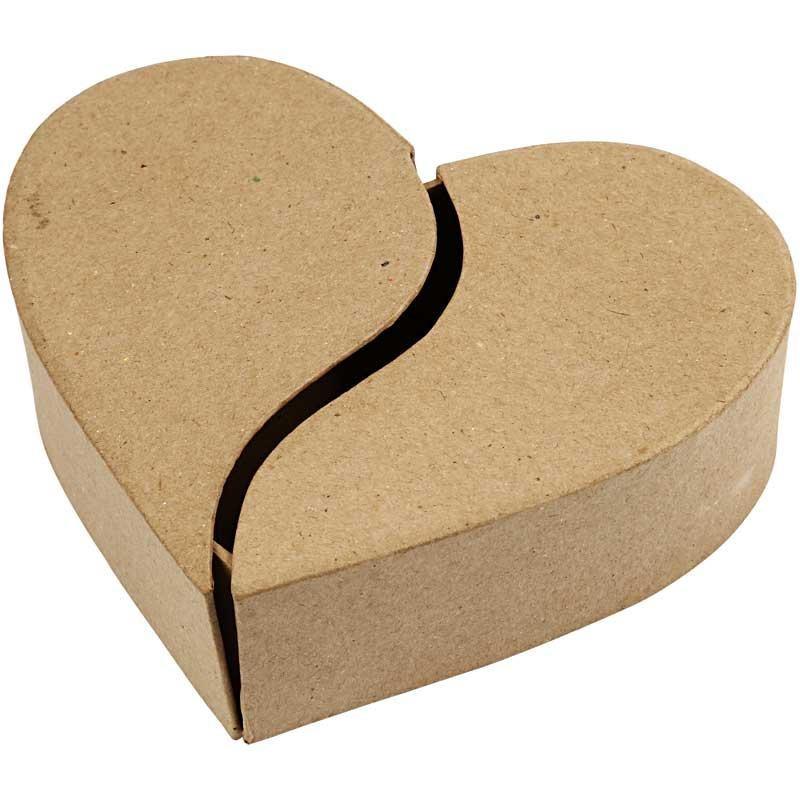 Cutie caton forma inima,16,5cm