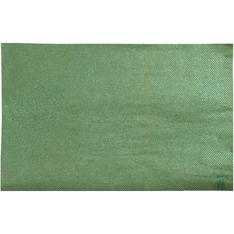 Hartie manuala 38x56,110g,verde/glitter