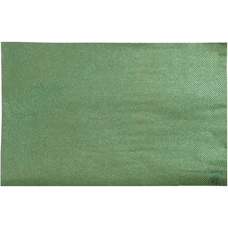 Hartie manuala 38x56,110g,verde/glitter