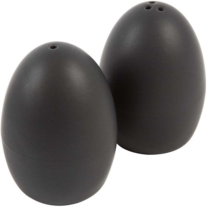 Solnite portelan,7cm,negru,set 2 buc