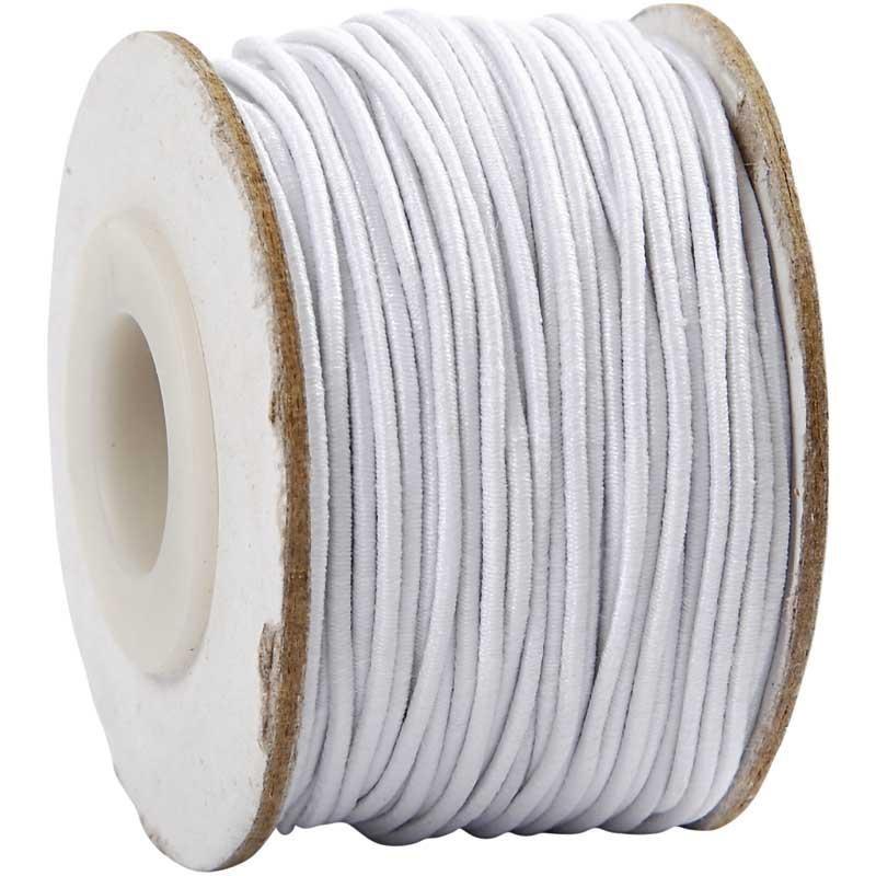Cordon elastic,1mmx25m,alb