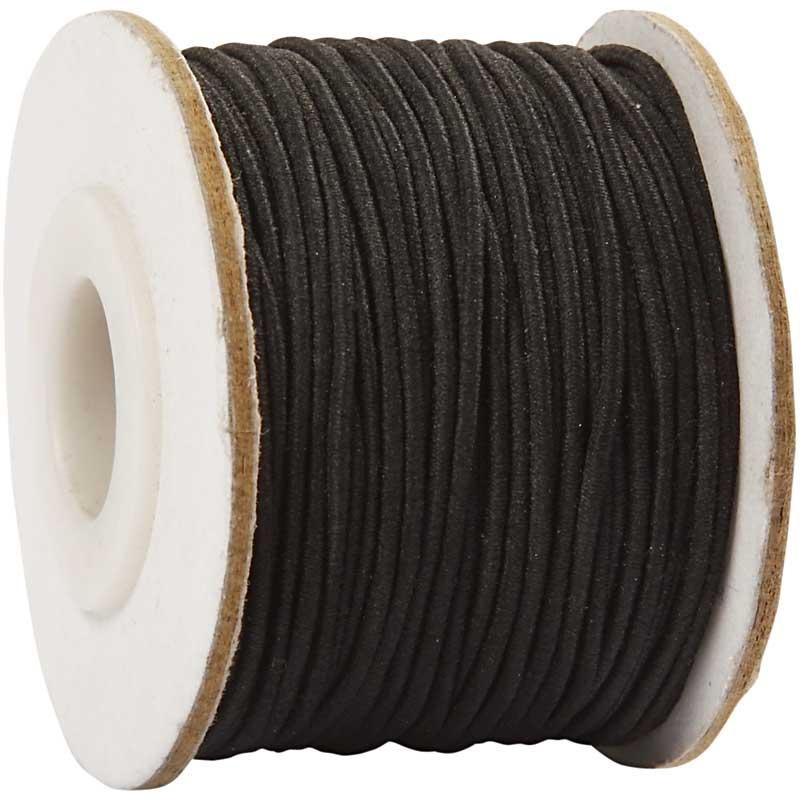 Cordon elastic,1mmx25m,negru