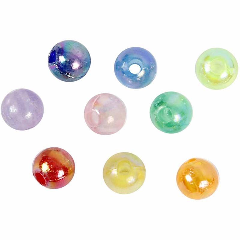 Margele plastic,6mm,rotunde,lucioase,65g
