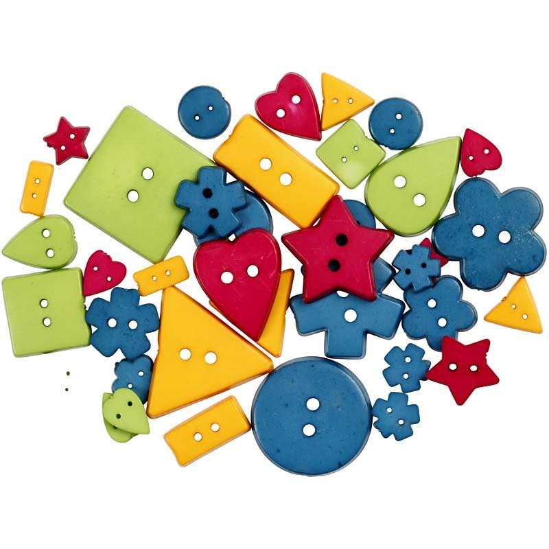 Nasturi plastic,5 forme,culori tari,37b
