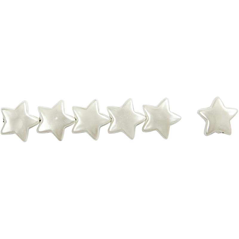 Margele plastic,13mm,perle stea,34g/s