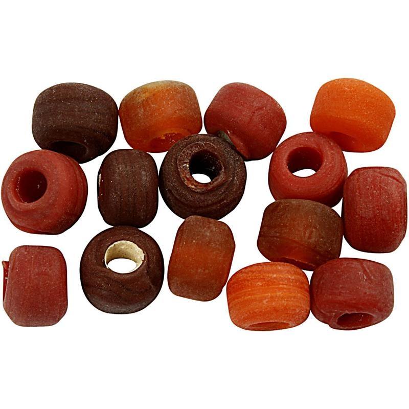 Margele sticla,8mm,tubulare,rosu,75 g