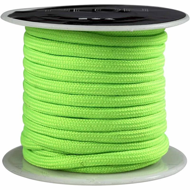 Snur,4mmx5m,verde neon