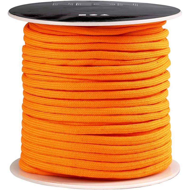 Snur,4mmx5m,portocaliu neon