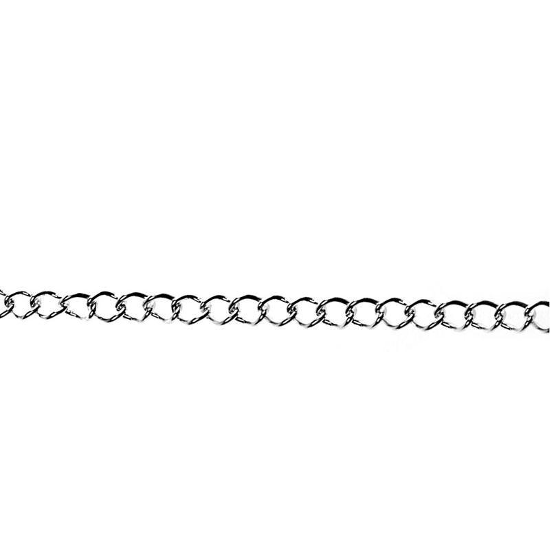 Lantisor,3mmx2m,placat cu argint