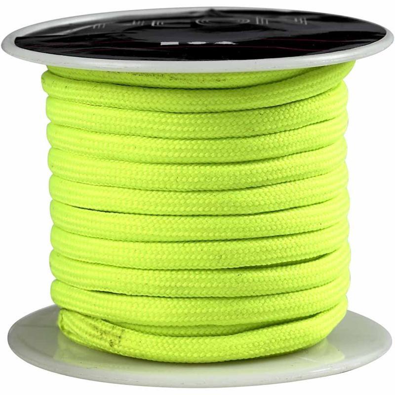Snur,4mmx5m,galben neon