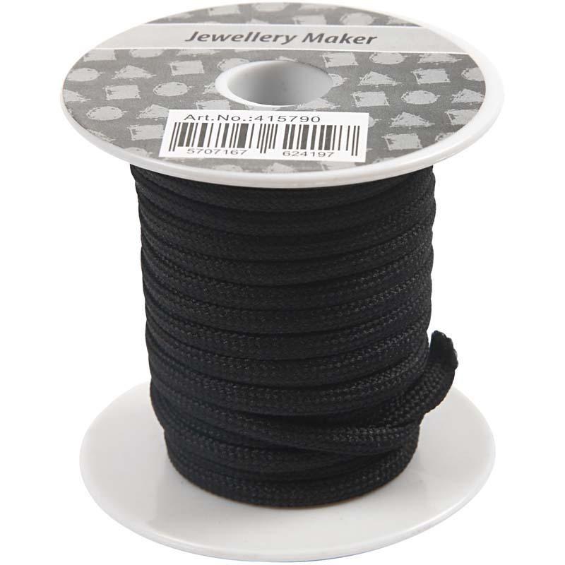 Snur,4mmx5m,negru