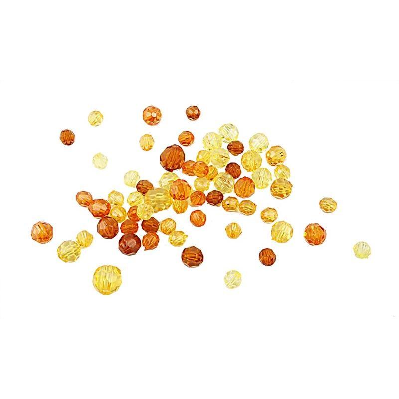 Margele plastic,4-12mm,fatetate,auriu,50g