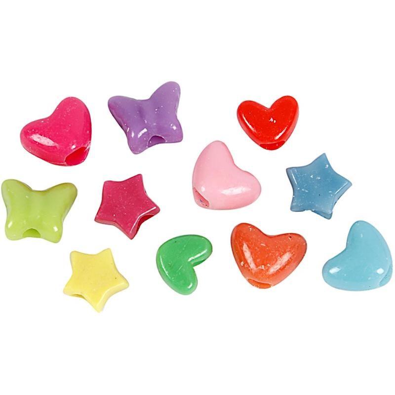 Margele plastic,10mm,diverse forme,65 g