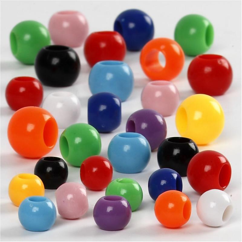 Margele plastic,6-10mm,rotunde,75g