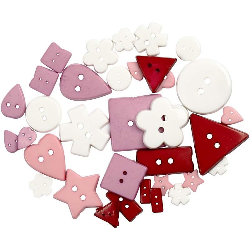 Nasturi plastic,5 forme,roz,37 b/s