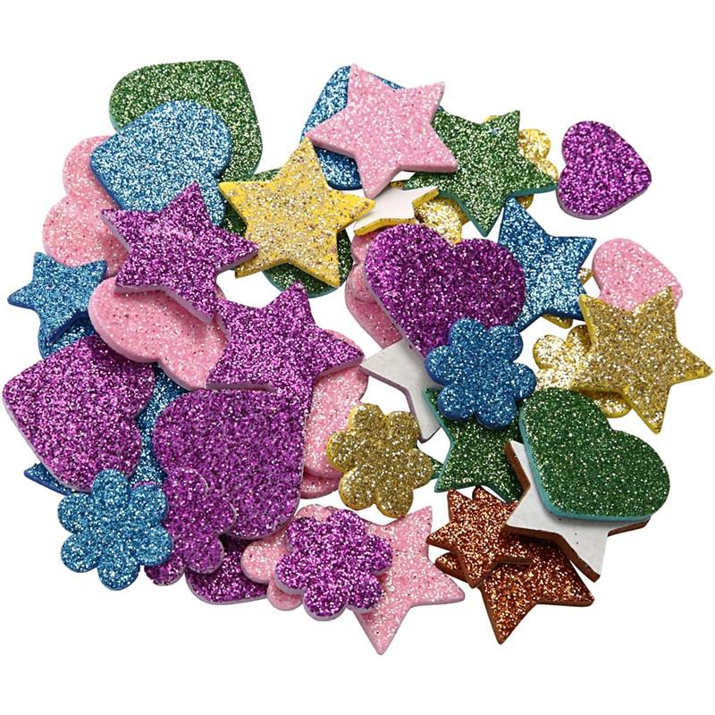 Figurine autoadezive,spuma,glitter,100b
