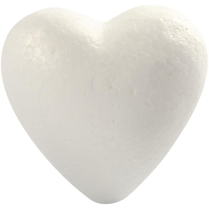 Inimi polistiren,8cm,5buc
