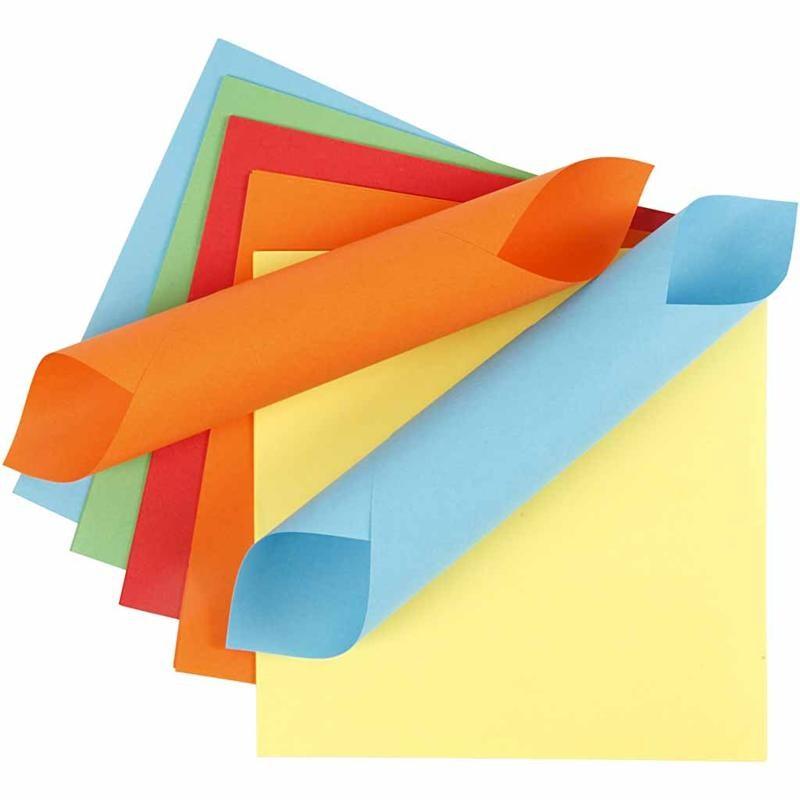 Hartie origami,15x15cm,50coli,5cul.asortate