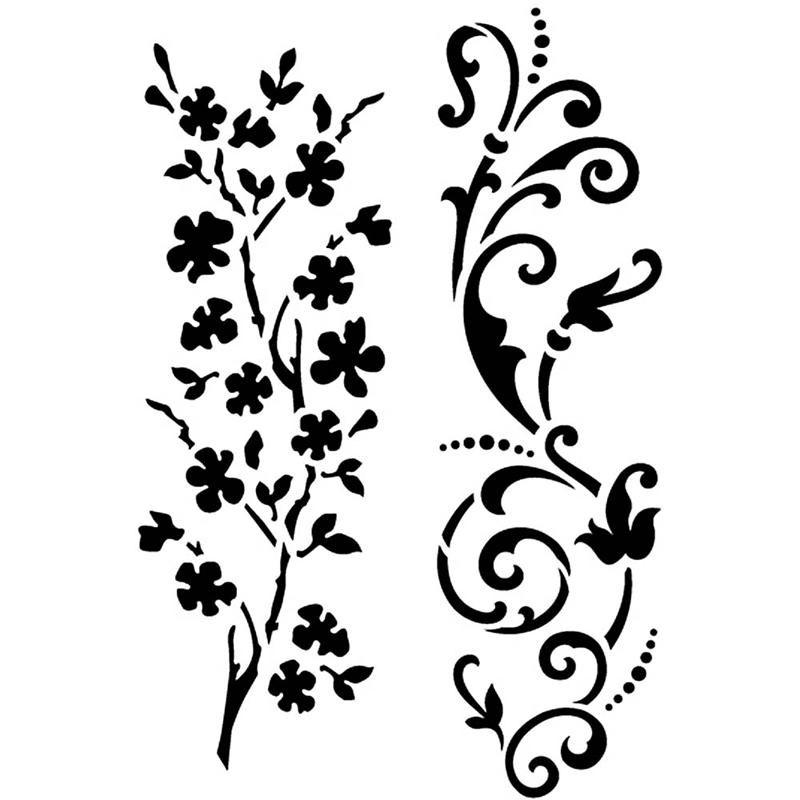 Sabloane flexibile,21x14.8cm,floare