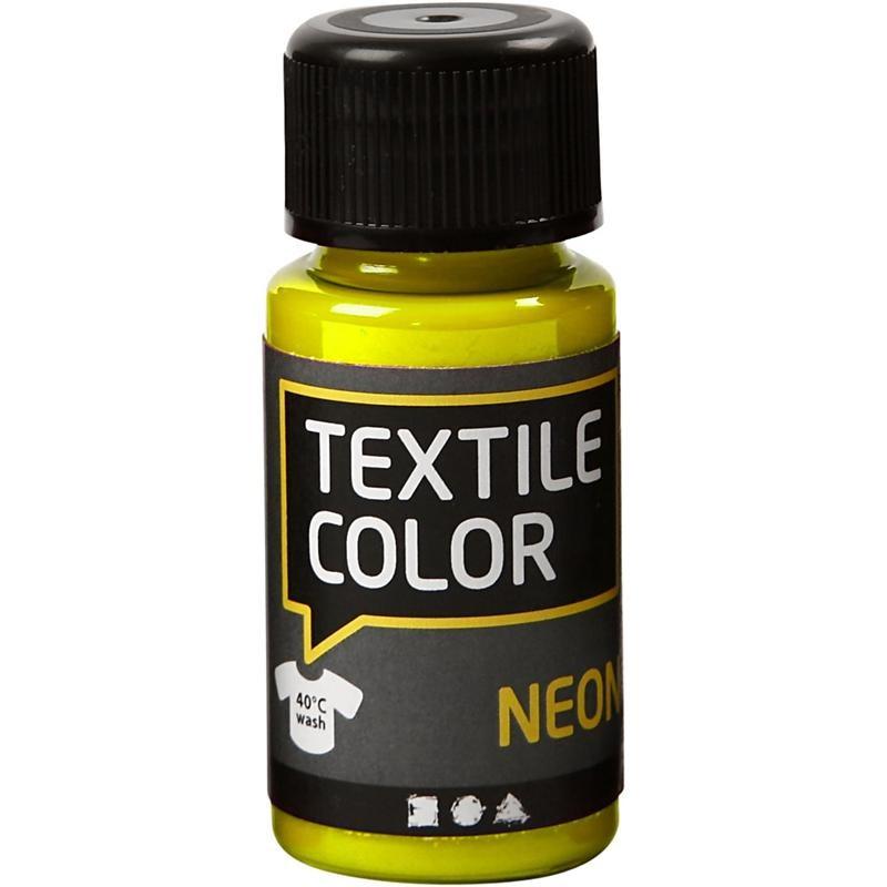 Culori neon pt tesaturi,50ml,galben