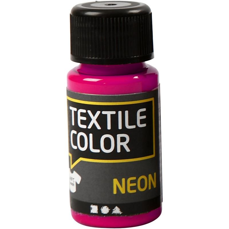 Culori neon pt tesaturi,50ml,roz