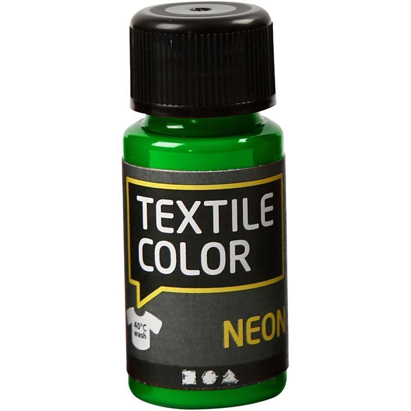 Culori neon pt tesaturi,50ml,verde