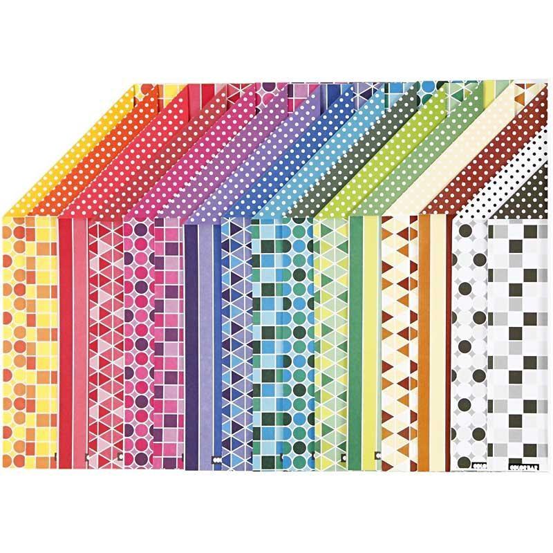 Hartie color A4,100g,16 modele asortate