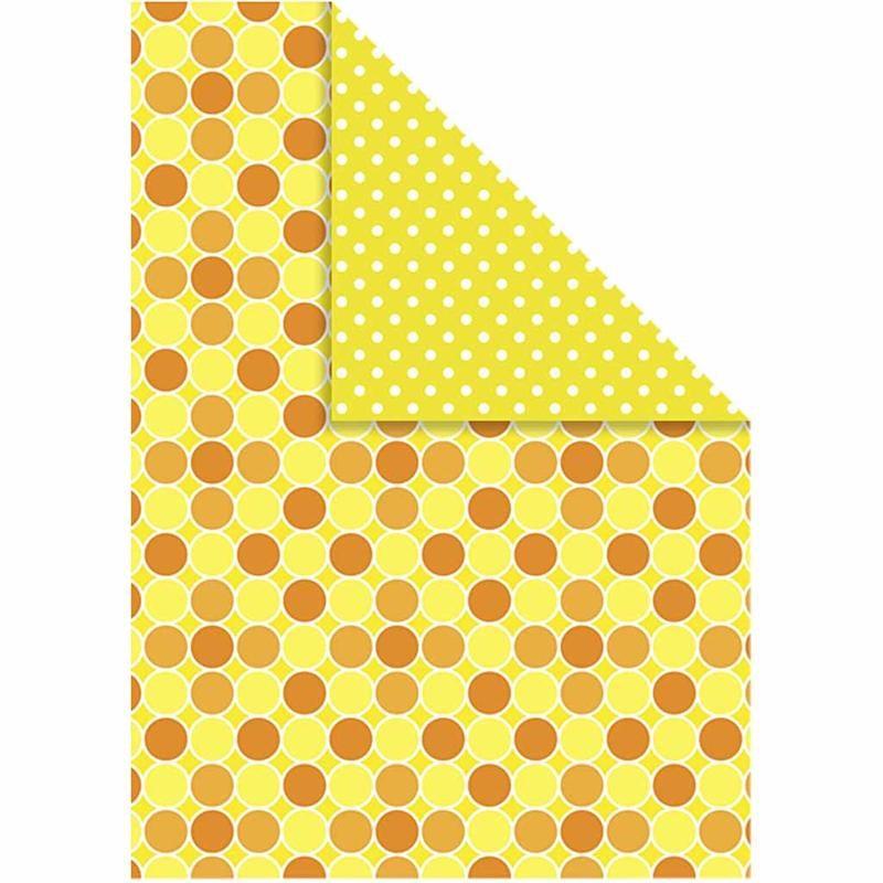 Carton A4,250g,10coli/set,galben/model