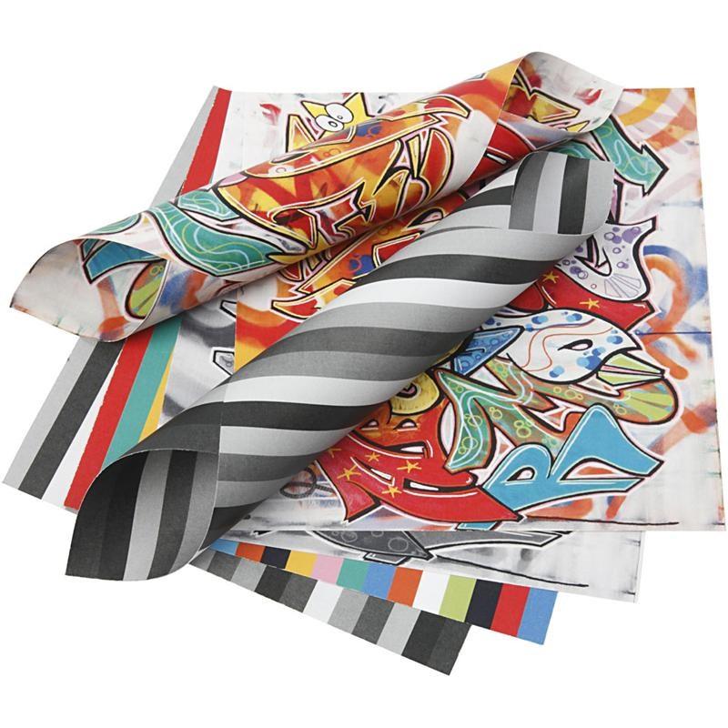 Hartie origami,15x15cm,50coli,graffiti