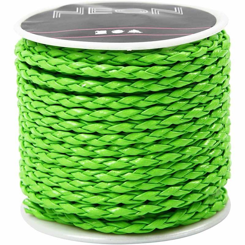 Cordon impletit,3mmx6m,verde neon