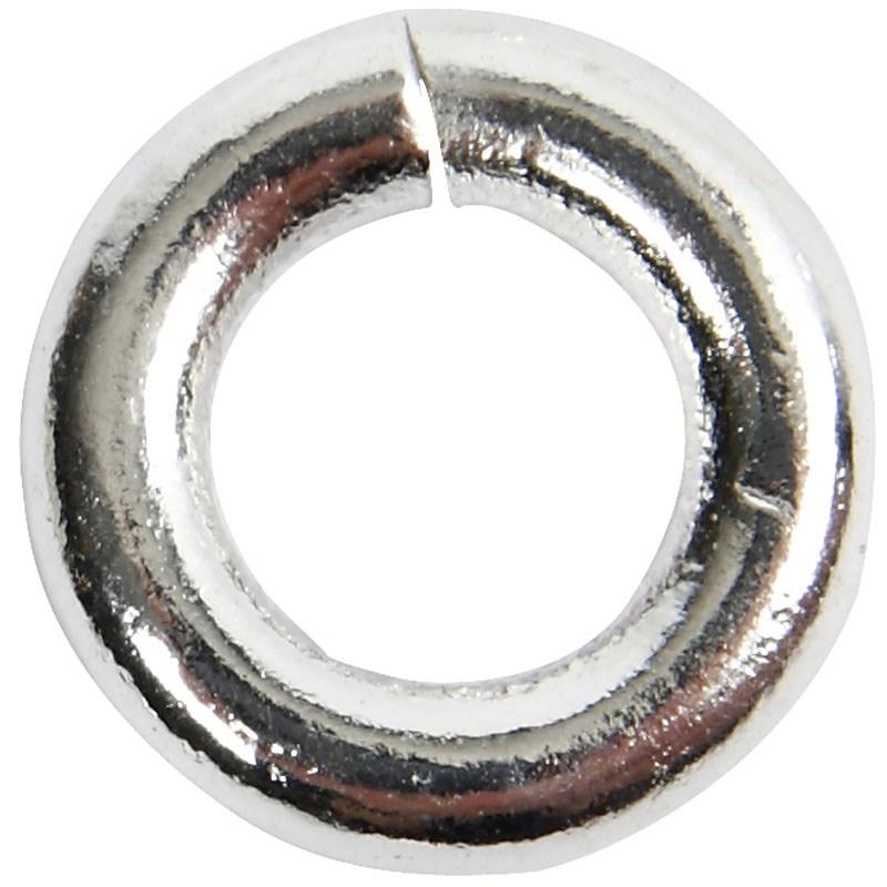 Inel,4.5mm,placat argint,30buc