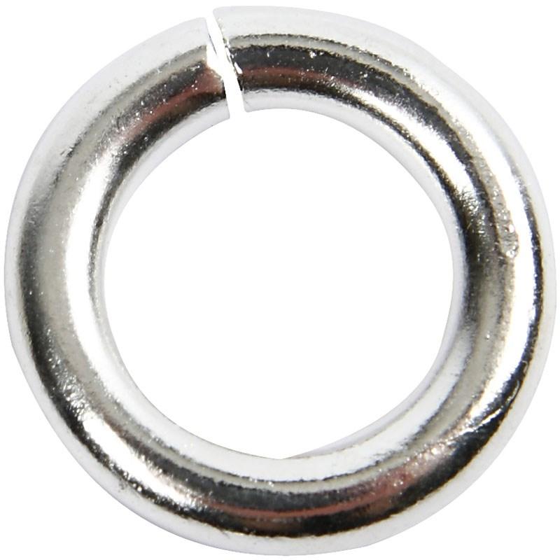 Inel,7mm,placat argint,30buc