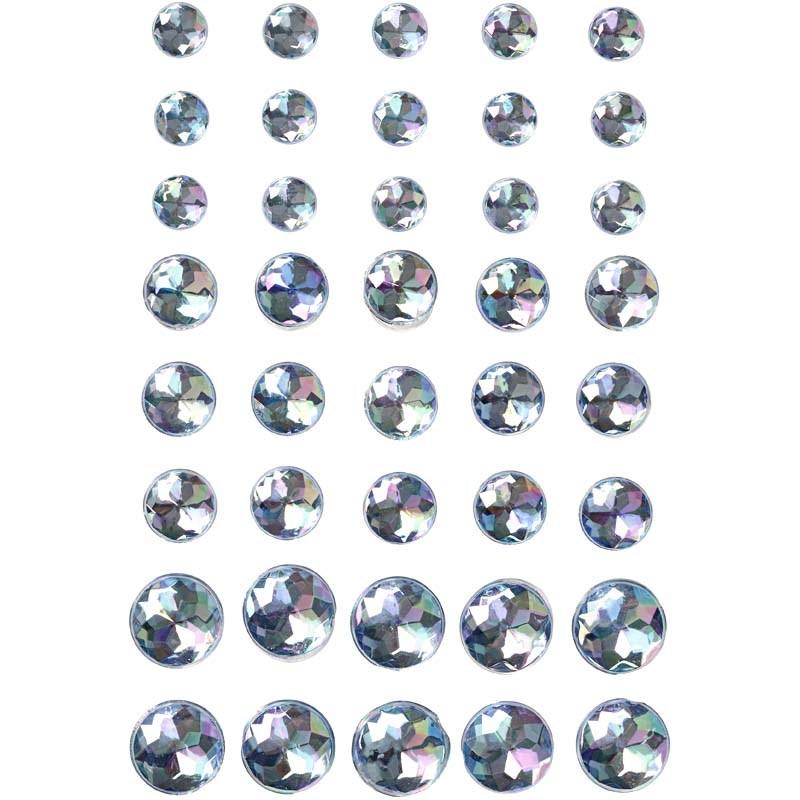 Pietre autoadezive,rotunde,albastru,40b