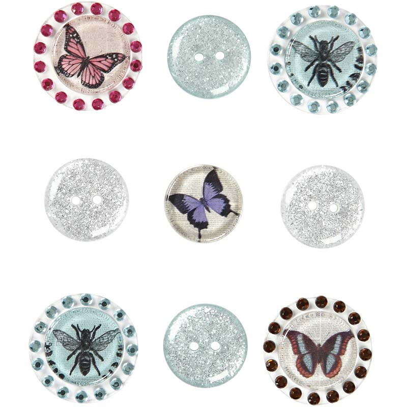 Stickere 3D,glitter&pietre,turcoaz,9 b/s