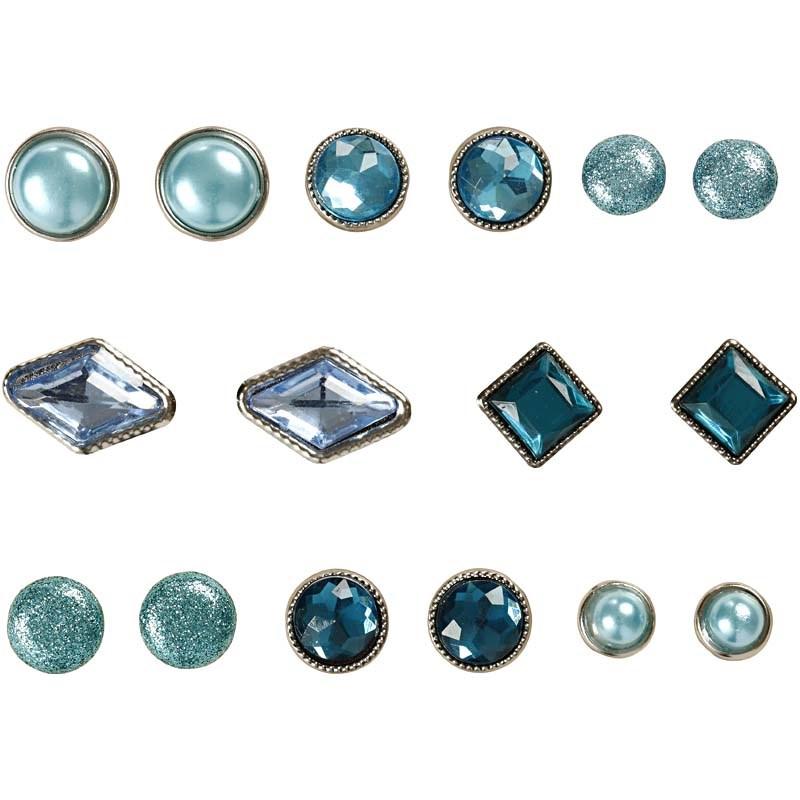 Pioneze,8-18mm,8modele,albastru,16 b/s