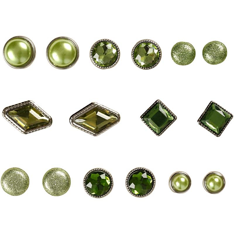 Pioneze,8-18mm,8modele,verde,16 buc/set