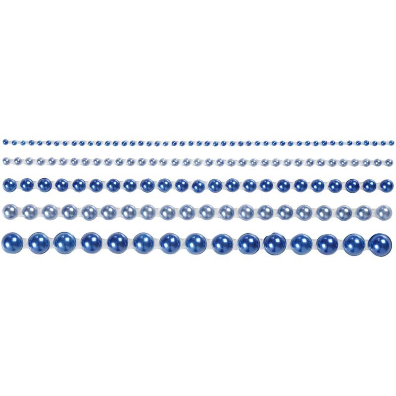 Strasuri autoadezive,perle,albastru,140b