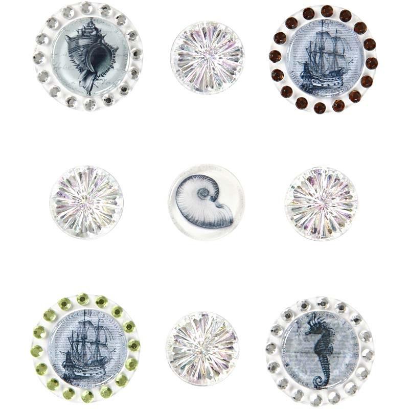 Stickere 3D,glitter&pietre,transpar,9b/s